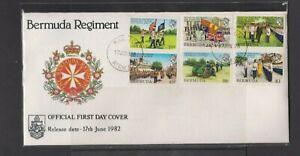 Bermuda 1982 Bermuda Regiment FDC per Scan ..see note slight tone marks sealed