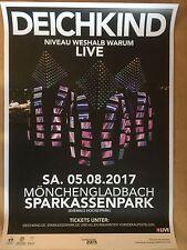 DEICHKIND  2017 M'GLADBACH   ++ orig.Concert Poster -- Konzert Plakat  A1 NEU