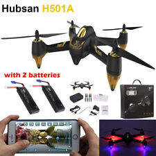Hubsan H501A WIFI FPV Brushless 1080P Cam GPS RC Quadcopter Drone RTF+ 2 Battery