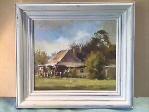 Paul Stork Sages Cottage Framed Oil Painting