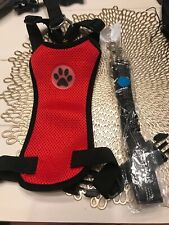 Slow Ton Dog Harness Seatbelt Medium Red