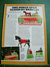 Barclay New Jersey USA 1 page side article one horse Sleigh slush cast vintage