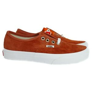 VN0A2Z5IV751 VANS Authentic Pig Suede (Burnt Brick) Men Sneakers Size 13