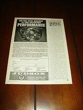 1965 JUDSON SUPERCHARGER VOLKSWAGEN VW ***ORIGINAL AD***