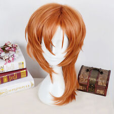 Bungo Stray Dogs Chuya Nakahara Chuuya Cosplay Brown Orange Heat Resistent Wig