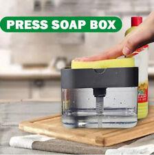Soap Pump Dispenser with Sponge Holder Cleaning Liquid Dispenser Container Manua