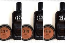 6 pc AMERICAN CREW Combo DAILY SHAMPOO 8.45oz & POMADE 3oz (kr) 487