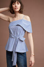NWT Anthropologie Mia One-Shoulder Blouse by Maeve /M