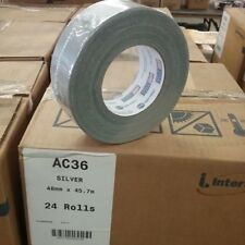 Intertape AC36  Cloth Duct Tape 1.88 In x 60 Yards Silver (24 Rolls)