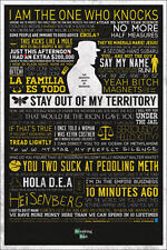 BREAKING BAD TYPOGRAPHIC 24x36 POSTER CRIME DRAMA TV SERIES AMC CANCER METH COOL