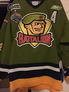 "OHL 2008-09 BRAMPTON BATTALIAN ""A"" BRAD ALBERT GAME WORN HOCKEY JERSEY"
