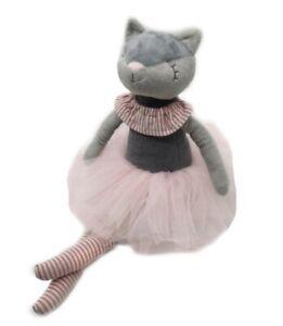 Stuffed Handmade Animal Kitten Plush Toy Soft Cute Cat Doll Ballerina Gift 38 cm