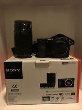 Sony Alpha a6000 24.3MP Digital SLR Camera - Black (Kit with E PZ OSS 16-50mm...