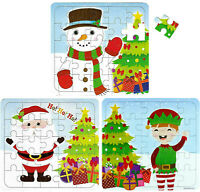 3 x JIGSAW XMAS GIFT for BOYS GIRLS SANTA SNOWMAN ELF CHRISTMAS STOCKING FILLERS