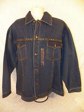 "INK ""Imagine Not Knowing"" Denim Coat Jean Jacket 2XL XXL NWT Button 100% Cotton"