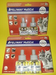 (2) TWIN PACKS~FELIWAYS MULTICAT REFILLS~CONSTANT HARMONY BETWEEN CATS AT HOME