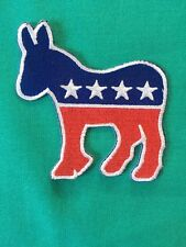 "(1) Democratic Party Iron/sew Patch 3"" Donkey President Politics USA Election"