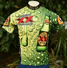 WORLD JERSEYS DOS EQUIS IMPORTED BEER UNISEX CYCLING JERSEY US M'S SZ S W'S SZ M