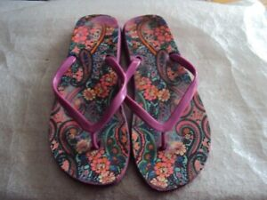 NEXT Ladies Pink Flip Flops Size 6 Good Condition