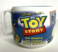 Vtg Disney Store Exclusive Pixar Toy Story Coffee Mug Cup Woody Buzz World Walt