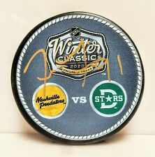Tyler Seguin Dallas Stars Signed Autographed 2020 Winter Classic Logos Duel Puck