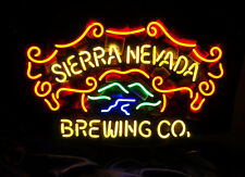 Sierra Nevada Brewing Co Neon Sign Decor Wall Gift Boutique Store Real Glass
