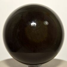 "2.5"" Natural Rainbow Eye Obsidian Sphere Gemstone Crystal Mineral Ball - Mexico"