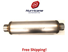 """Cherry Bomb Salute Round Diesel Muffler Stainless Steel SA2772  4"""" Inlet / Out"""