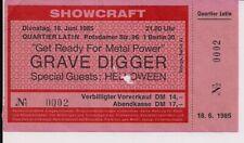 GRAVE DIGGER & Helloween Used Ticket Berlin 18.06.1985