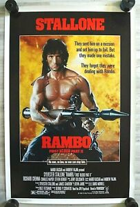 Vintage (1985) RAMBO: FIRST BLOOD PART II Rolled one sheet Movie poster Original