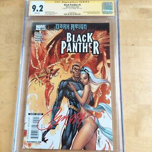 Black Panther # 1 2009 Dark Reign  Deadliest of the Species. CGC 9.2 SS Campbell