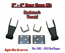 "1983 - 2015 Ford Ranger 3"" - 4"" Inch Adjustable Lowering Drop REAR AXLE FLIP KIT"