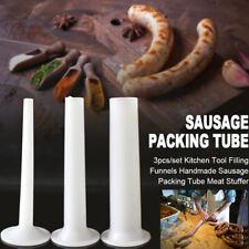 3PCs Meat Grinder Filling Meat Tubes Handmade Sausage Tube Grinder with B ui