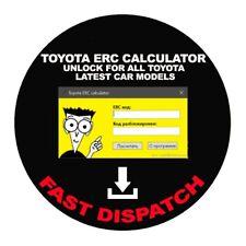 TOYOTA ERC CALCULATOR UNLOCK FOR ALL TOYOTA LATEST CAR MODELS diagnostics