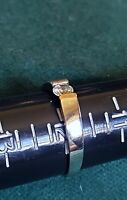 Beautiful Ladies Sterling Silver Engagement Ring. RARE UNIQUE ART DECO SETTING