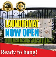 Laundromat Now Open Banner Vinyl /Mesh Banner Sign Many Sizes Flag
