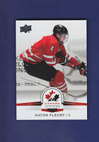 Haydn Fleury SP 2014-15 UD Hockey Team Canada Juniors #115