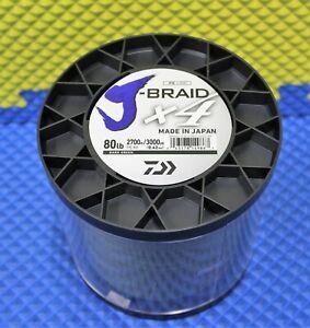 Daiwa J-Braid X4U 80-2700DG Dark Green 80lb 3000yd 4000-2183