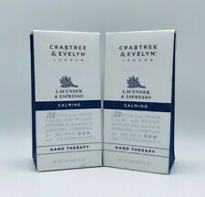 2 x Crabtree & Evelyn Lavender & Espresso Calming Hand Therapy 3.45 oz New