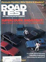 Road Test Magazine October 1976 Supercoupe Shootout! VG 082716jhe
