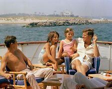 President John F. Kennedy with Caroline and niece Maria on boat New 8x10 Photo