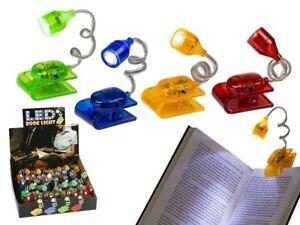 Mini LED Book Reading Light Clip On Night Lamp Mini Christmas Stocking Filler
