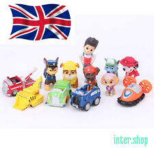 New 12pcs Paw Patrol Toys Action Figures Plastic Puppy Patrol Dog Kids Gifts