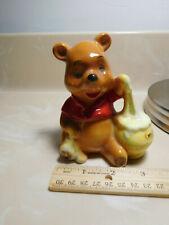 """Vintage Walt Disney Productions Winnie the Pooh Figurine Japan 4 1/4"""" 70s?"""