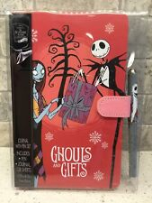 Nightmare Before Christmas Jack and Sally Ghouls & Gifts Journal Pen Set NEW!!!