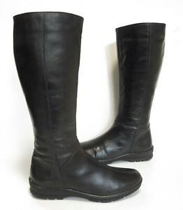 Ladies DUO 'Cazale' Black leather calf-length boots Size UK 4 (eur 37) Exc Cond