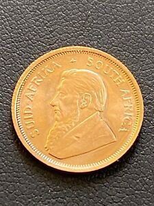 1980's South African 1/10ozt. Gold Krugerands Brilliant Uncirculated Condition