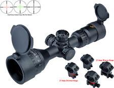 Eagle Eye 3-9x42AO R/G Compact Glass Mil Dot Rifle Scope W/2 Kinds of Mounts