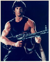 Sylvester Stallone Rambo With Machine Gun 8x10 Picture Celebrity Print
