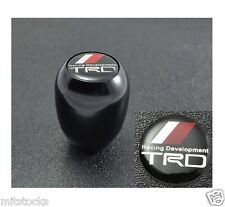 NEW BLACK TYPE-R STYLE MT MANUAL TRANSMISSION GEAR SHIFT KNOB TRD EMBLEM